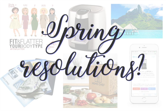 It's never too late to get back on track. Start by making a few spring resolutions!