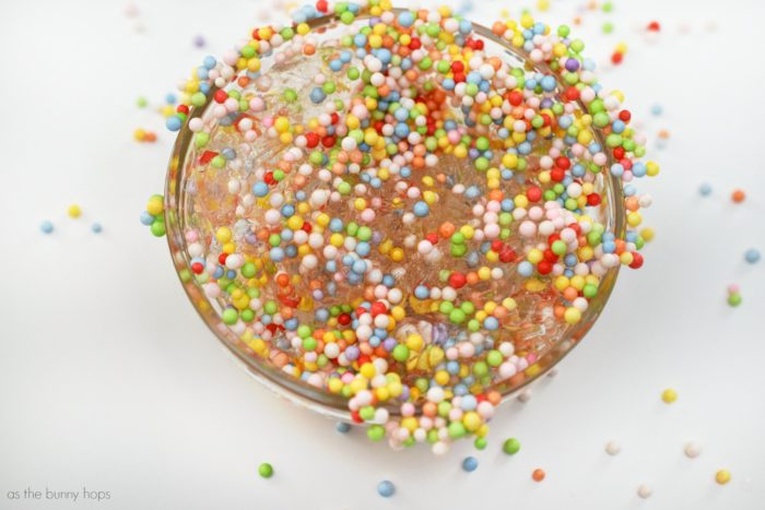 """Make traditional slime with a fun new twist-add colorful styrofoam beads and you have """"Unicorn Goo""""!"""