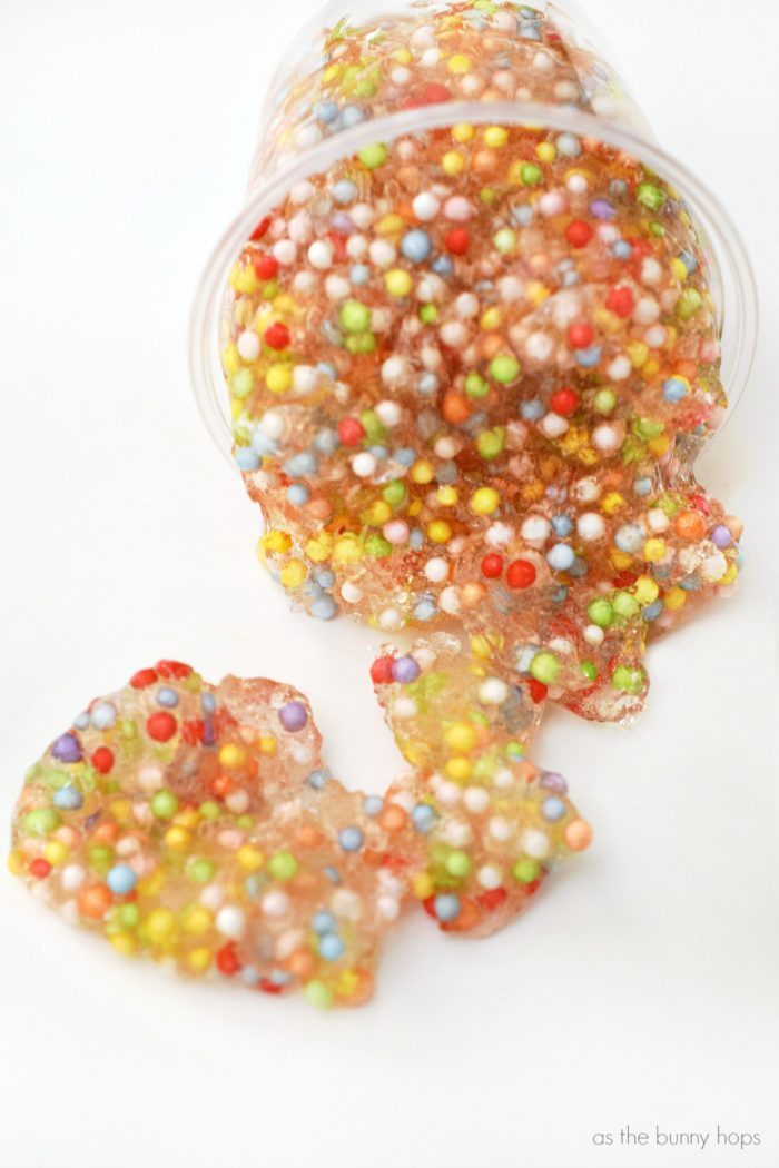 "Make traditional slime with a fun new twist-add colorful styrofoam beads and you have ""Unicorn Goo""!"