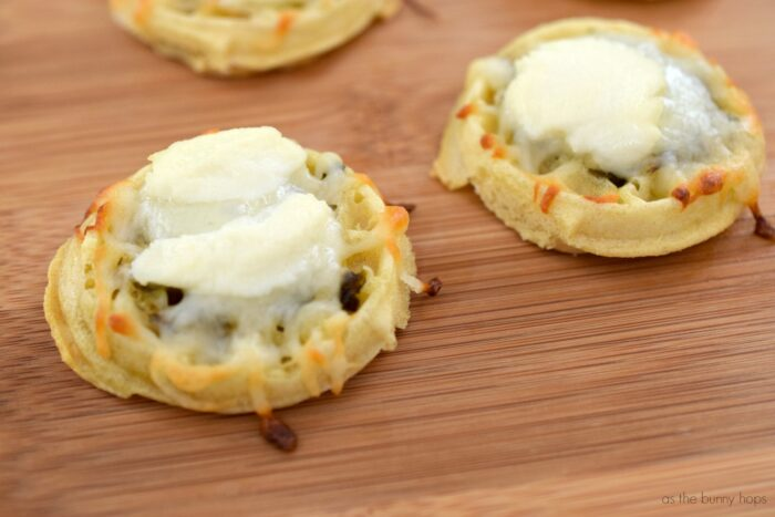 Mini White Pizza Waffles