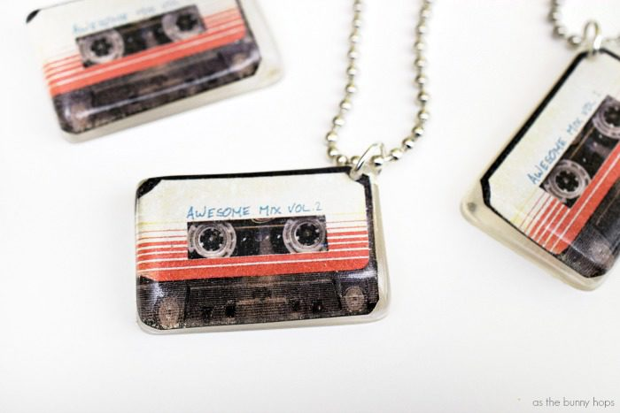 Make your own Guardians of the Galaxy Vol. 2 inspired Awesome Mix charms!