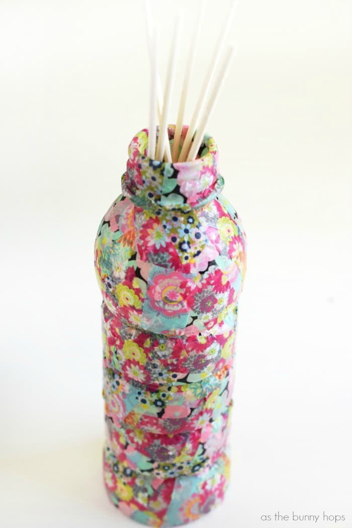 Celebrate Earth Day with an easy and fun upcycle project-a reed diffuser made from a plastic bottle!