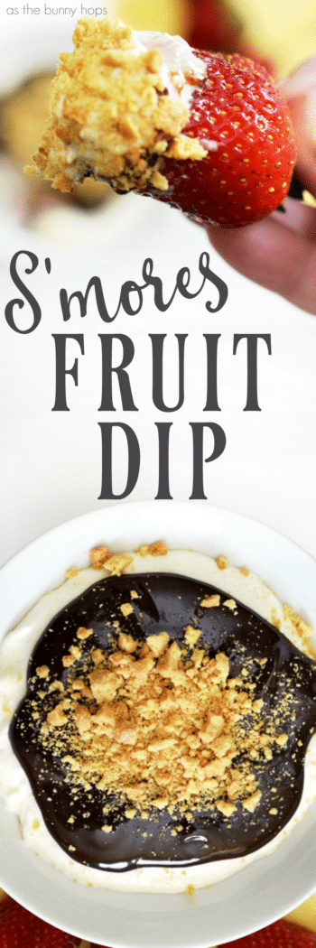 Grab some strawberries and get ready to dip. This S'mores Fruit Dip might just be your new favorite recipe!