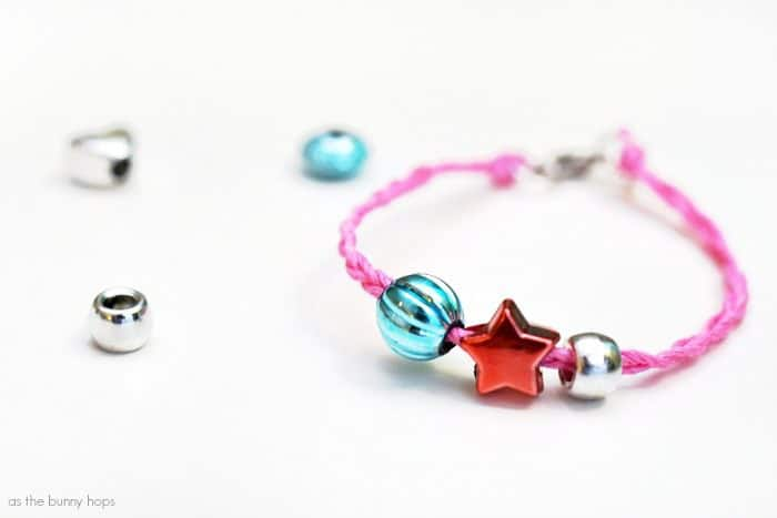 Celebrate American Girl Tenney Grant with an easy and fun braided bracelet DIY!