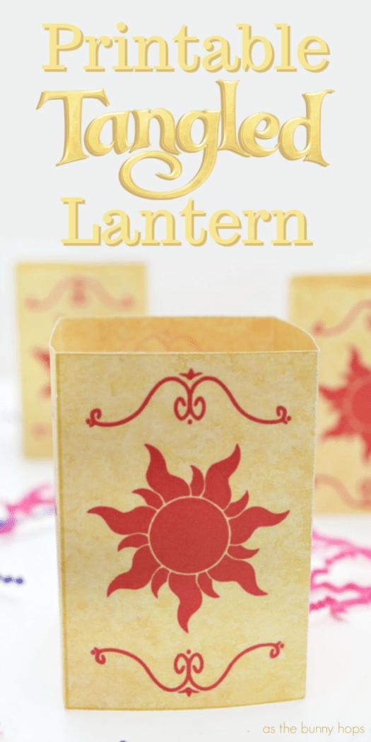 Disney S Tangled Lantern Printable As The Bunny Hops