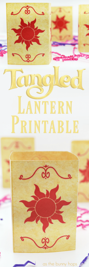 disney s tangled lantern printable as the bunny hops
