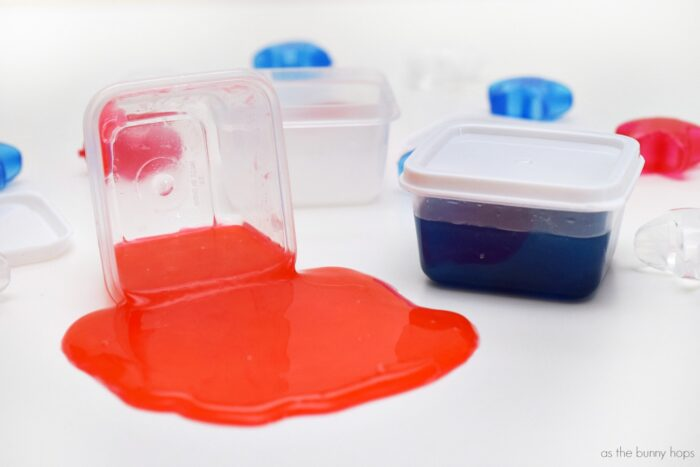 DIY Red, White and Blue Slime Party Favors
