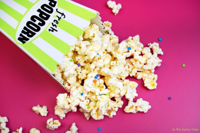 Celebrate Movie Night With Birthday Cake Popcorn