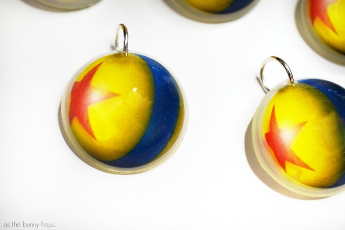 Pixar's Luxo Ball Resin Charms
