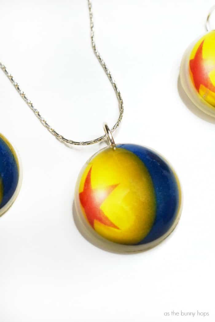 Make your own resin charm inspired by Pixar's iconic Luxo Ball!