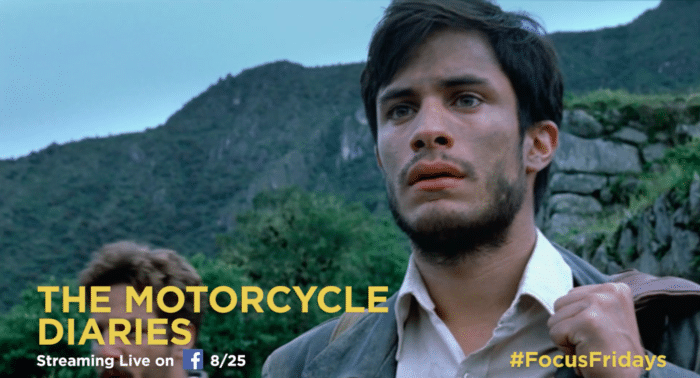 Three classic Focus Features films will be streamed live over the next three Fridays. Watch The Motorcycle Diaries, The Constant Gardner and Eternal Sunshine of the Spotless Mind on Facebook!