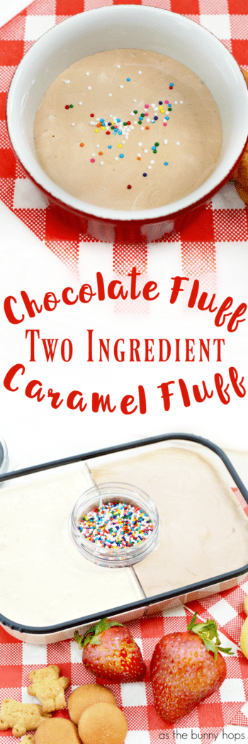 It's hard to pick a favorite. Which will you choose? Chocolate fluff? Caramel fluff? Why not try both with this easy 2-ingredient recipe!