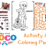 Pixar's Coco Activity and Coloring Pages