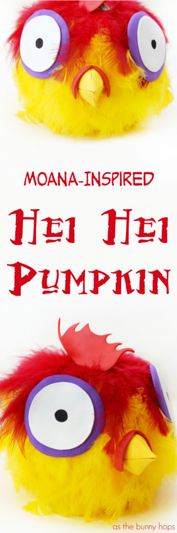 The chicken lives! Get creative this Halloween with an easy to make Hei Hei Pumpkin!