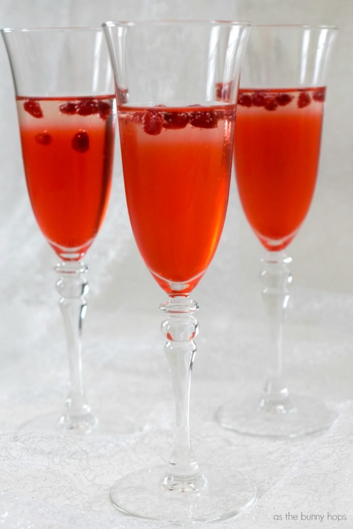 Persephone Sparkling Pomegranate Cocktail - As The Bunny Hops®