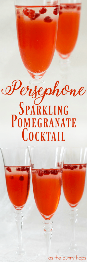 The Persephone Sparkling Pomegranate Cocktail is inspired by the classic Greek myth.