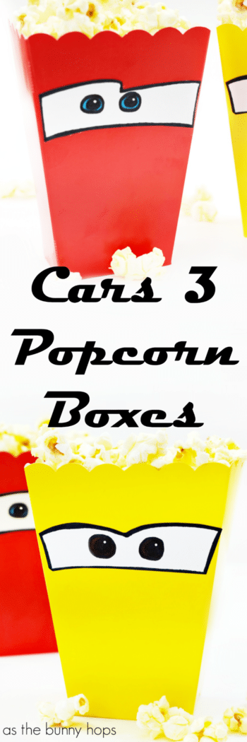 Get ready for movie night with Cars 3-Inspired Popcorn Boxes!