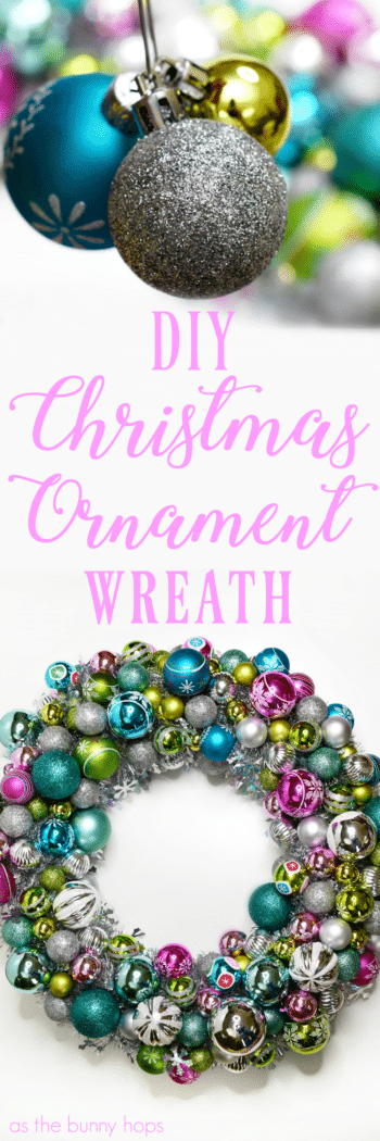 You won't believe just how easy it is to make this vintage-inspired Christmas Ornament Wreath!