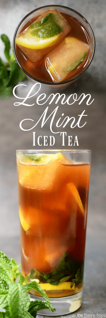Get ready for holiday entertaining with this easy recipe for Lemon Mint Iced Tea. It only takes a minute to make!