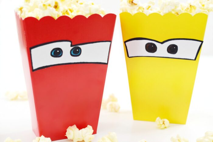 Cars 3-Inspired Popcorn Boxes