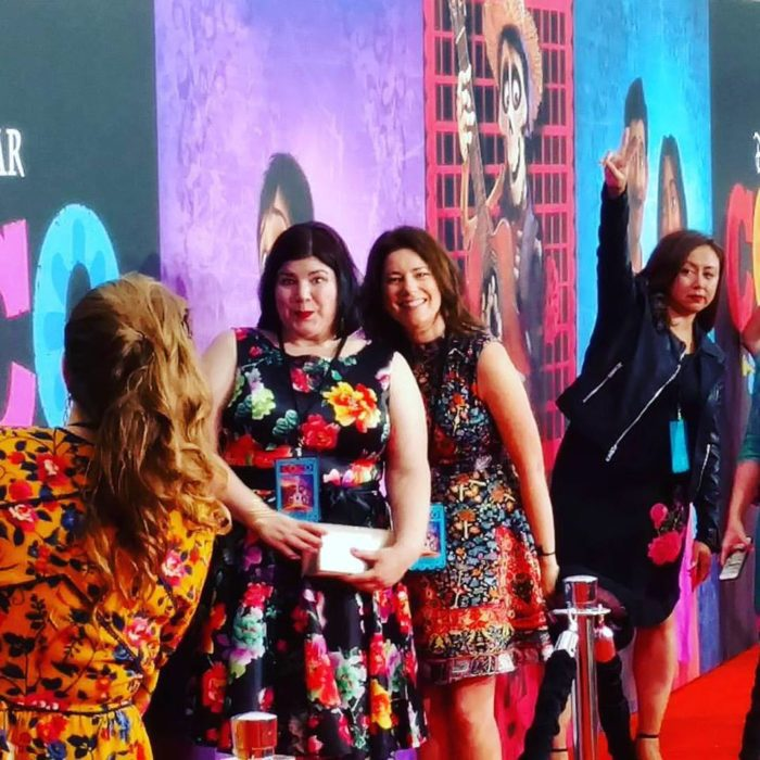 Take a walk with me down the marigold-lined path at the premiere of Pixar's Coco!