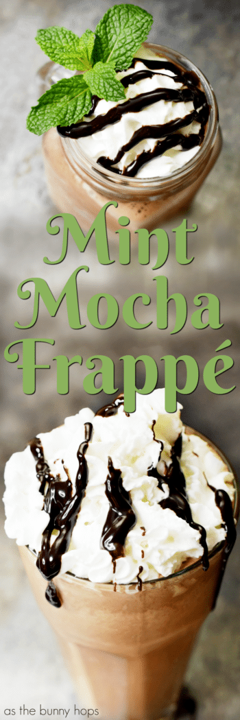 Bring the coffee house to your house when you make a delicious Mint Mocha Frappé at home!