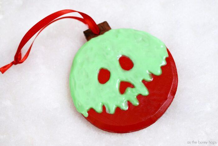 Snow White-Inspired Poison Apple Ornament