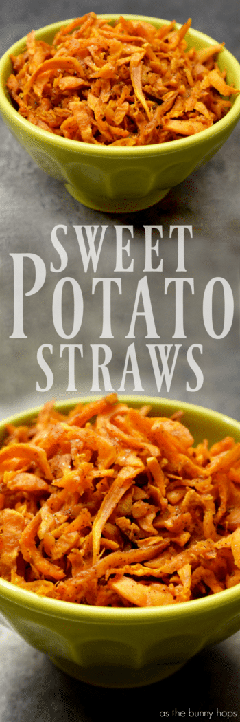 Crispy Sweet Potato Straws are sweet, spicy, and easy to make! Customize with your own spice blends for a recipe that's truly unique!