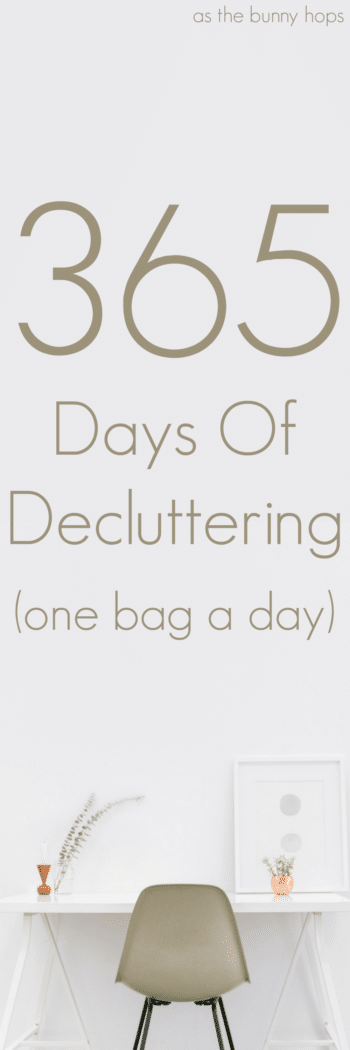 I'm clearing out the clutter, one bag at a time with my 365 Days of Decluttering challenge!