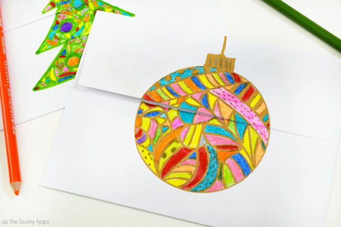 Channel your inner artist this Christmas with these easy and fun to make coloring page envelopes!