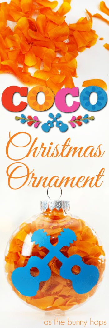 """You can make this Pixar's Coco-inspired Christmas ornament in just a few minutes. It's the perfect Disney DIY if you want to say """"Remember Me"""" this holiday season!"""
