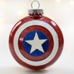 Make A Glittery Captain America Christmas Ornament
