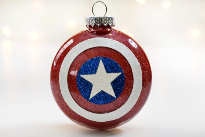 Make A Glittery Captain America Christmas Ornament