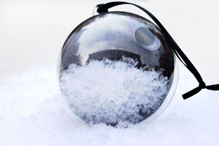 Star Wars-Inspired Death Star Snow Globe Ornament