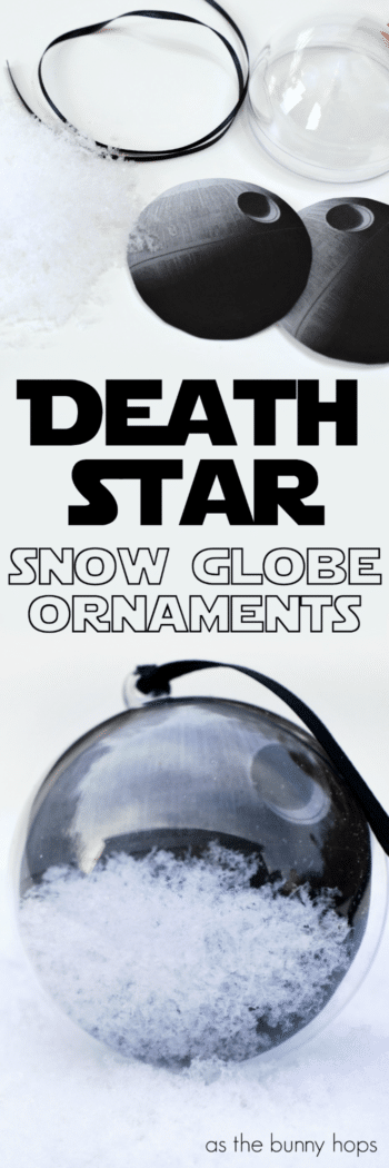 That's no moon. It's an easy to make Star Wars-inspired Death Star Ornament!