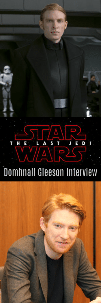 Domhnall Gleeson discusses the motivations of General Hux and why he waited until the premiere to see The Last Jedi for the first time.