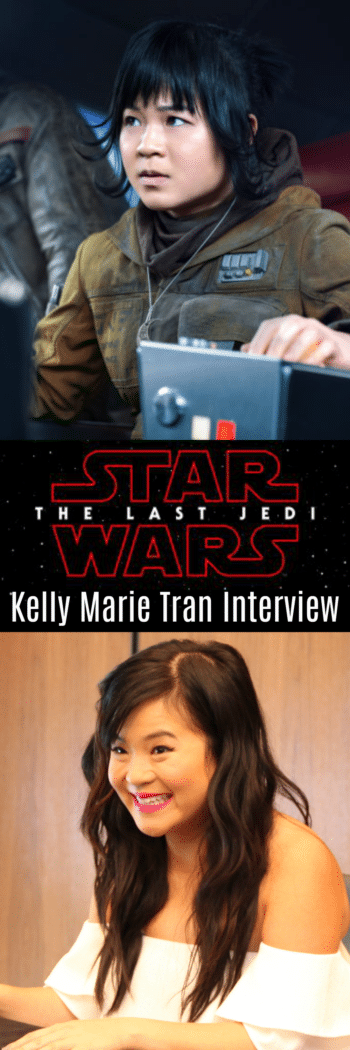 Kelly Marie Tran talks about working in the background, being present in the moment, and becoming a role model to a new generation of Star Wars fans.