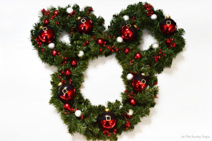 Santa Mickey Christmas Wreath