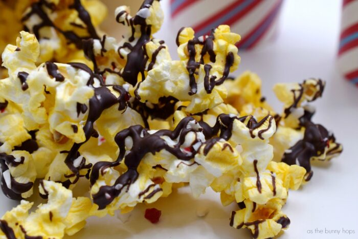 Get Ready For A Holiday Movie Night With Peppermint Bark Popcorn