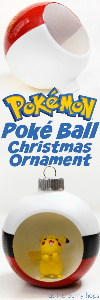 Gotta catch 'em all! Then you gotta hang 'em all on your tree with this fun DIY Poké Ball Christmas Ornament!