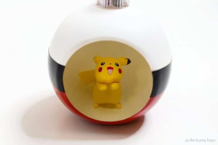 Pokémon-Inspired Poké Ball Christmas Ornament