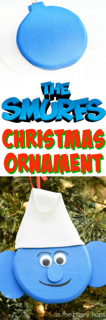 It'll be the Smurfiest holiday ever when you hang this DIY Smurf Christmas ornament on your tree!