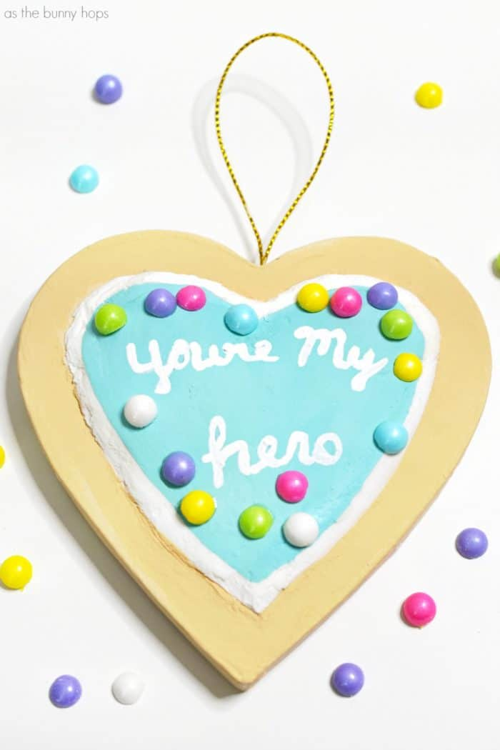 """Prepare for a sugar rush when you make a sweet """"You're My Hero"""" cookie ornament inspired by Wreck-It Ralph!"""