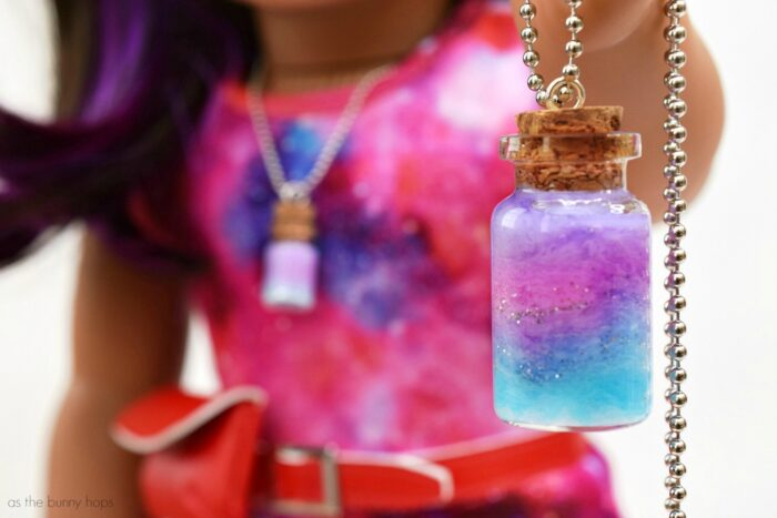 American Girl's Luciana Vega-Inspired Doll and Me Nebula Pendants