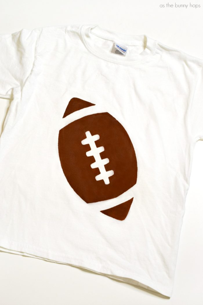 Freezer paper stencils are the easy and fun way to make your own DIY Football T-Shirts, even if you're normally all thumbs when it comes to paint and stencils!