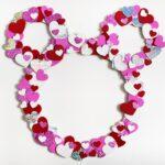 Hidden Mickey Valentine Wreath