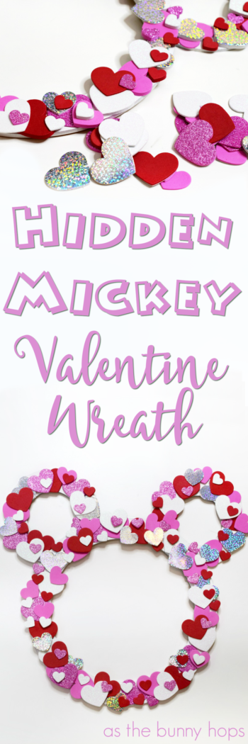 Get ready for Valentine's Day with this easy and kid-friendly Hidden Mickey Valentine Wreath craft! It's a simple Disney DIY for any skill level!