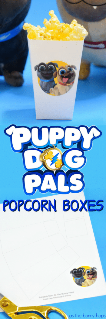 Puppy Dog Pals Popcorn Boxes As The Bunny Hops