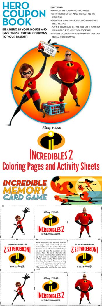 Incredibles 2 Coloring Sheets and