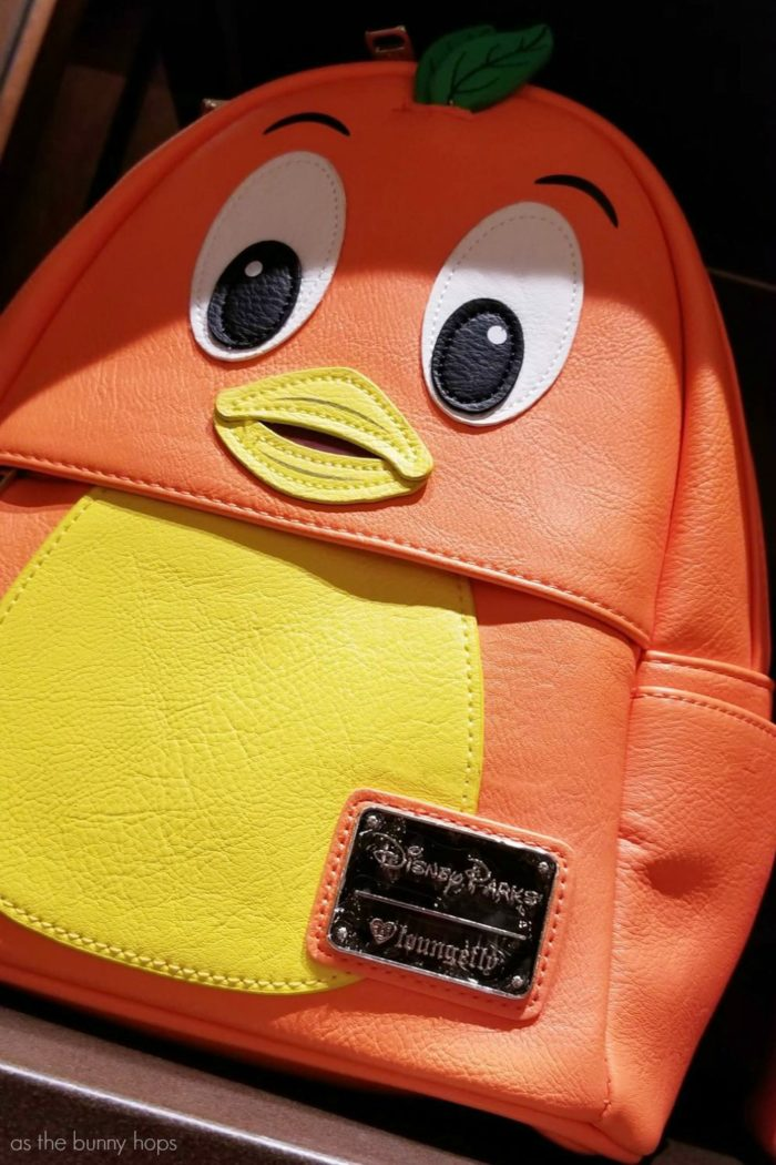 a16c7fc5bf6 Disney Parks Exclusive Orange Bird Backpack by Loungefly on display in  Uptown Jewelers at Walt Disney